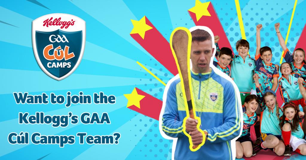Kelloggs GAA Cl Camps 2020 Coaching Roles | Kildare GAA
