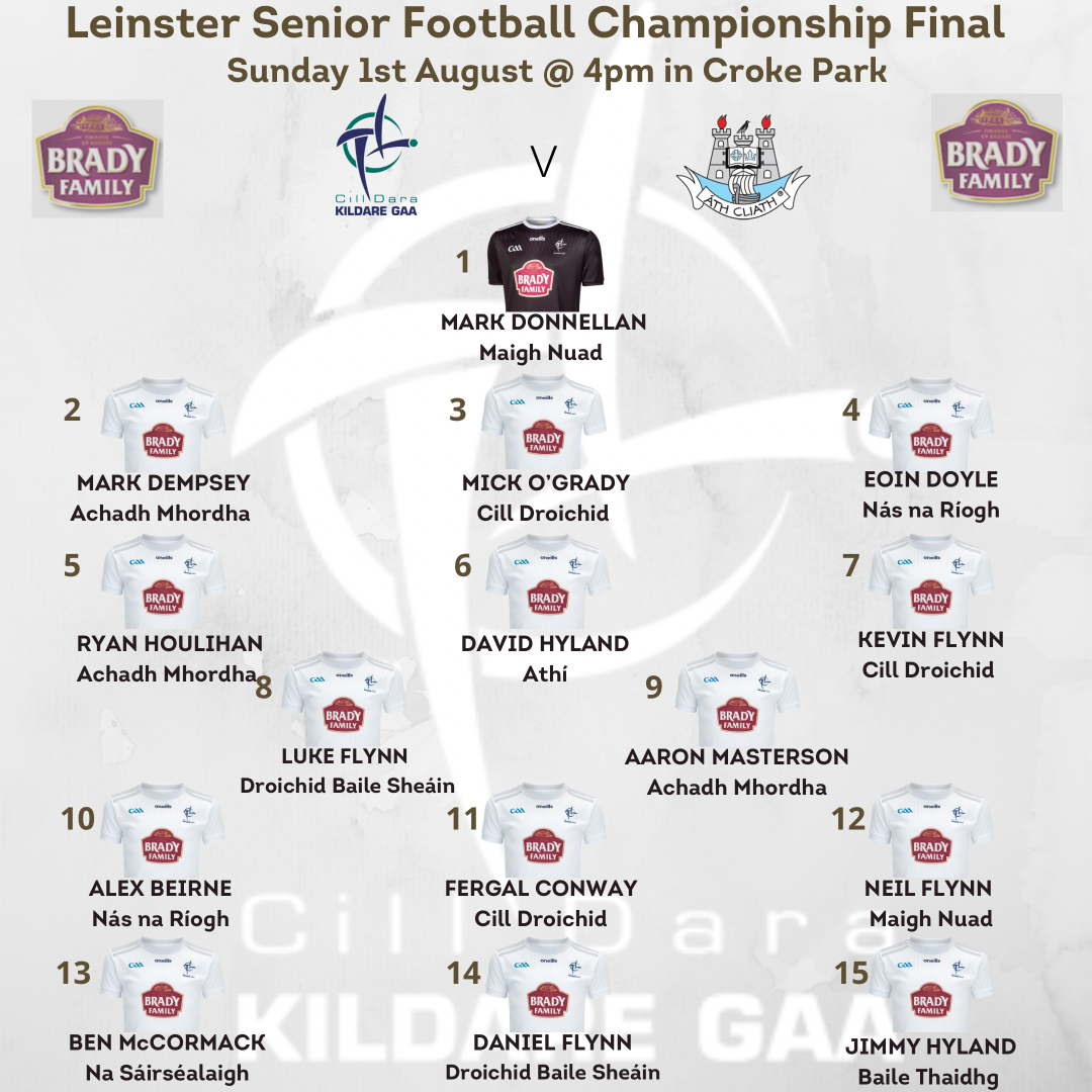 Kildare Senior Football Team v Dublin